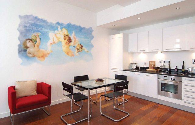 Фрески на стену на кухне